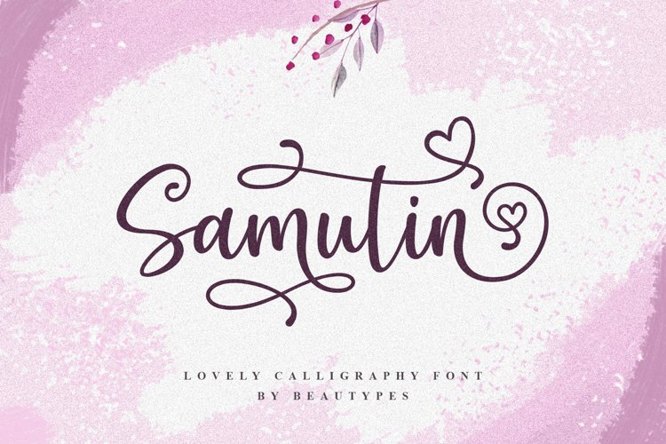 Samutin | Lovely Calligraphy Font example image 1