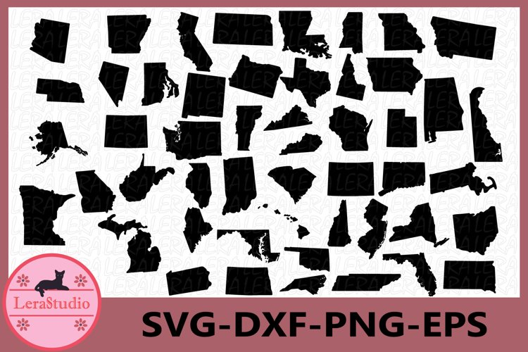 50 States SVG, 50 States Clipart, All States Svg, States Svg example image 1