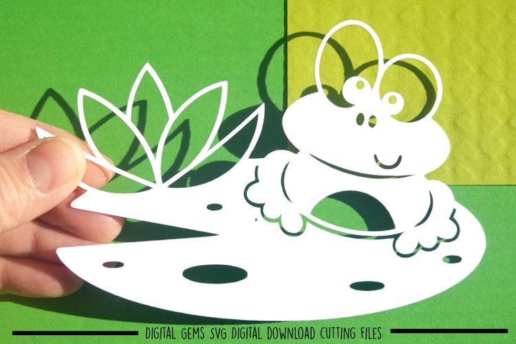 Frog paper cut SVG / DXF / EPS files example image 1