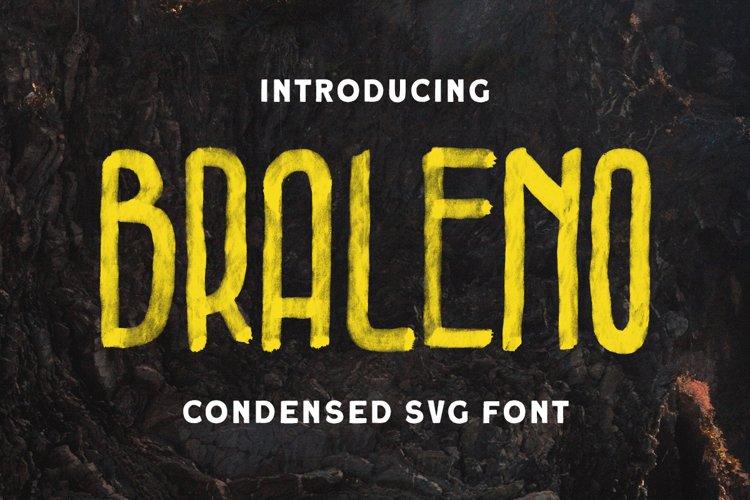 Braleno - Condensed SVG Font example image 1