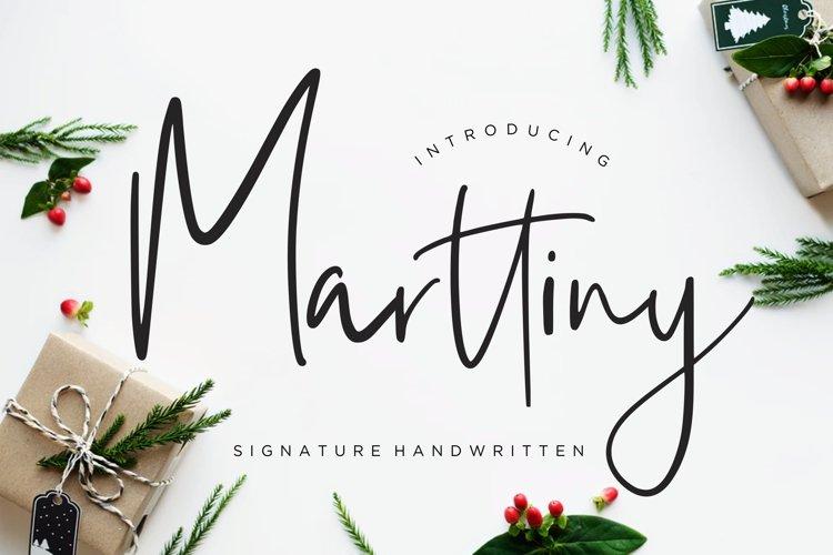 Marttiny Signature Handwritten example image 1