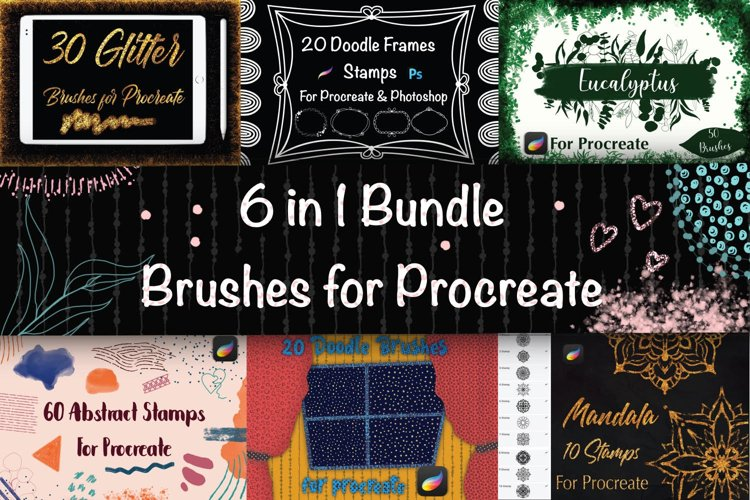 Bundle Brushes for Procreate example image 1