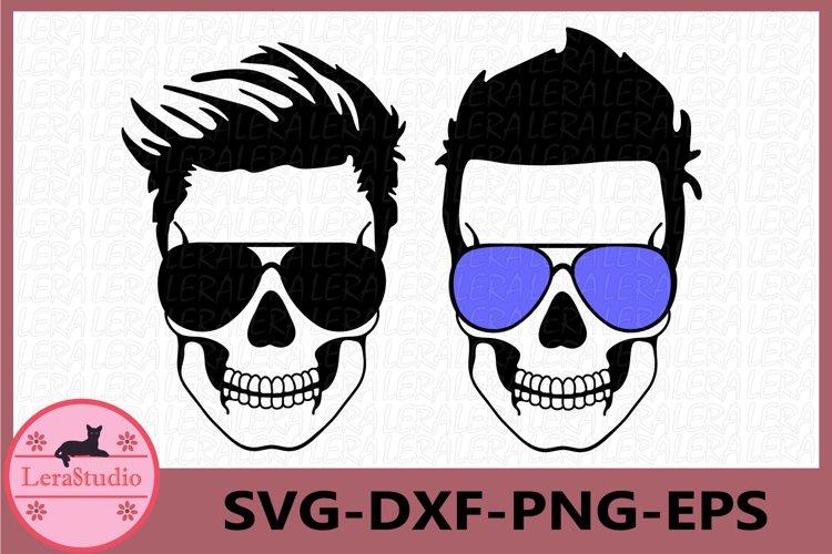 Dadlife svg, Skull with glasses svg, Dad life Skeleton svg example image 1