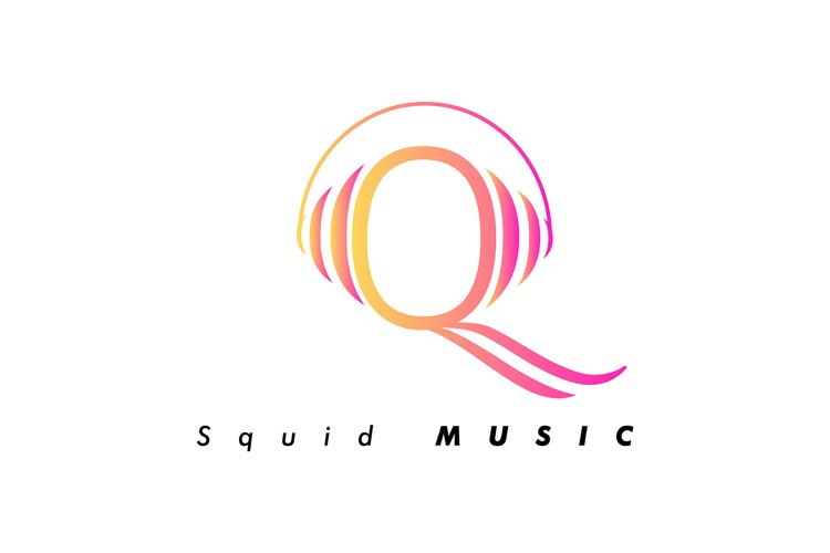 Company vector logo. squid music example image 1