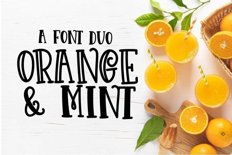 Web Font Orange N Mint example image 1
