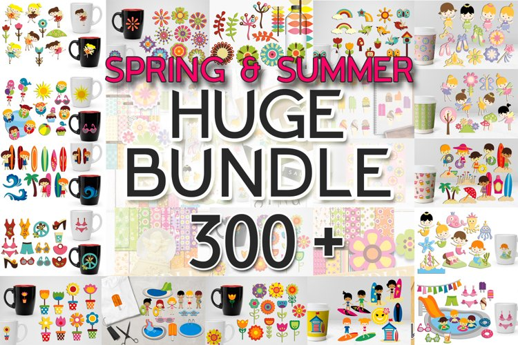Spring and Summer Illustrations Bundle - Huge Collection