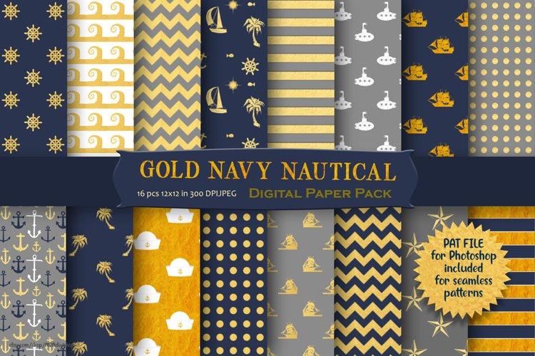 Nautical Pattern Digital Paper example image 1