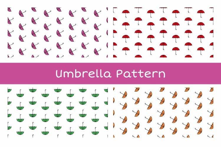 Umbrella Seamless Pattern example image 1