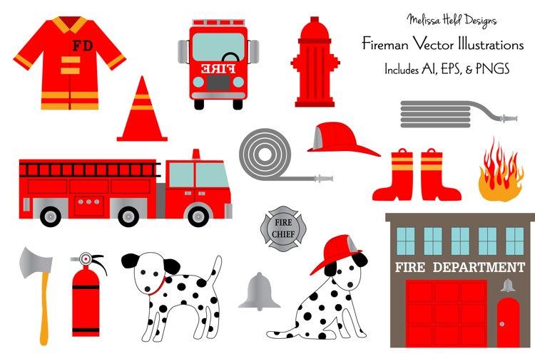 Fire Department Vector Clipart Illustrations