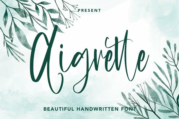 Web Font Aigrette - Beautiful Font example image 1