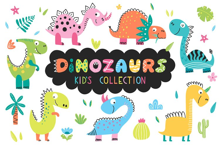 Dinosaurs - kids collection. example image 1