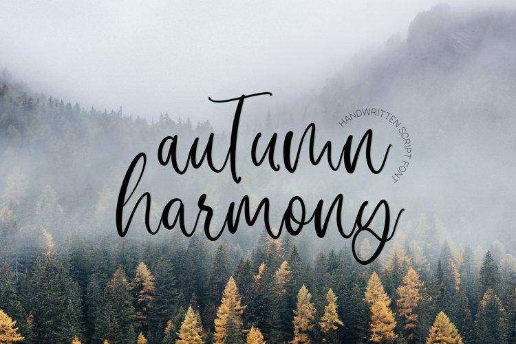 Web Font Autumn Harmony example image 1