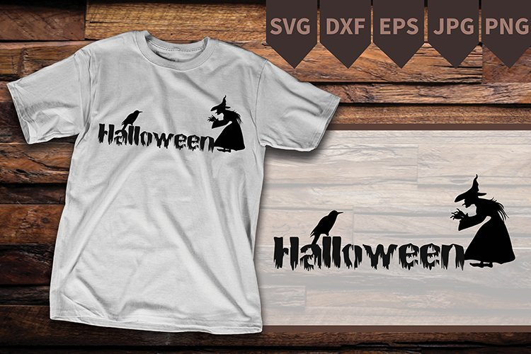 witch SVG-Witch PNG- halloween svg- witch with wand example image 1