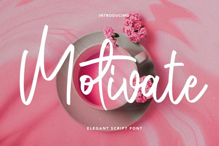 Motivate - Elegant Script Font example image 1