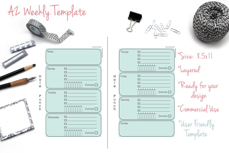 A2 Weekly Template