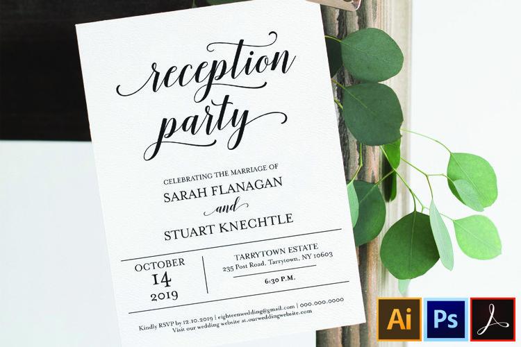 Wedding Reception Invitation, Reception Party Printable example image 1
