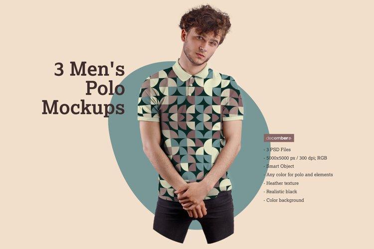 3 Mens Polo Mockups