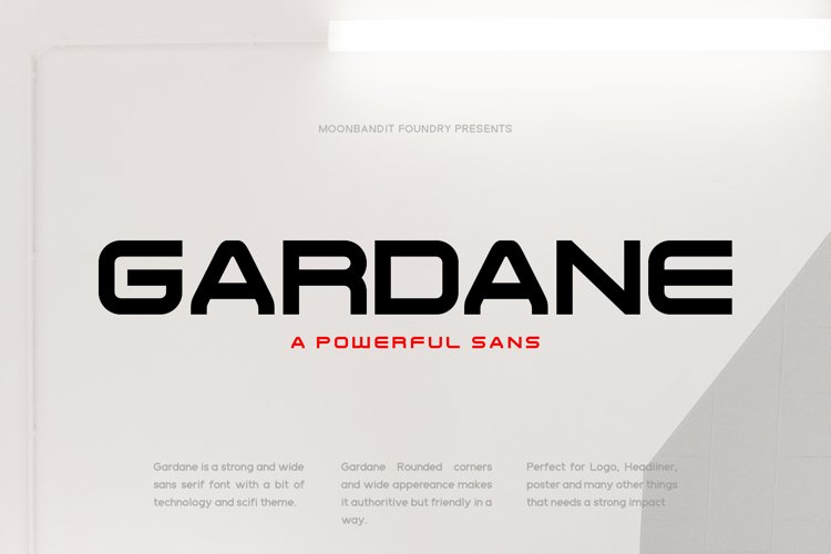 Gardane - Wide bold sans serif