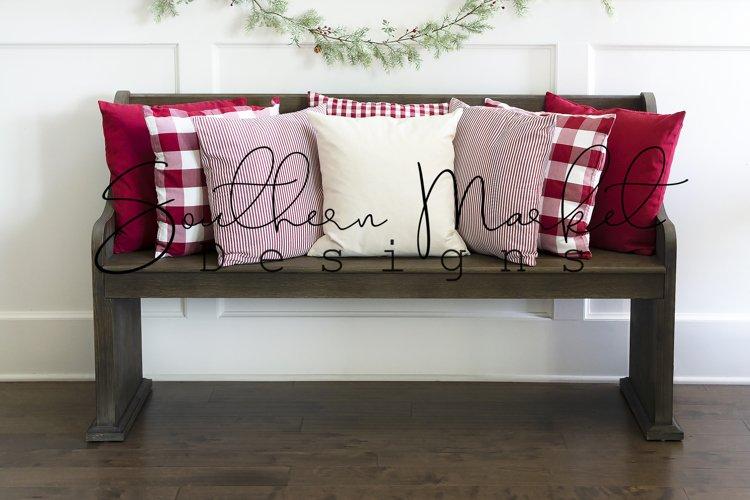 Christmas Mockup   Pillow Mockup   Mockup   Throw Pillow Moc example image 1