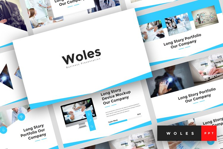 Woles - Business PowerPoint Template example image 1