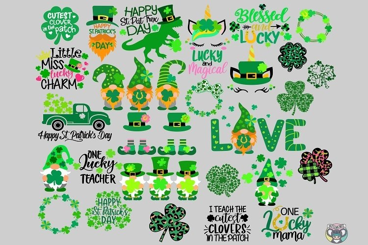 St Patrick's Day svg, Bundle svg, Clover svg, Cricut Files example image 1