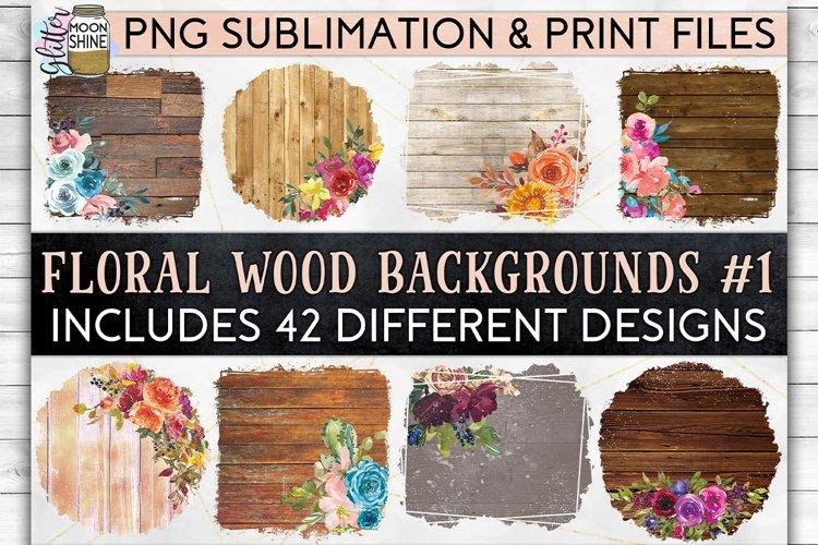 Floral Wood Bundle of 42 Sublimation Background PNG