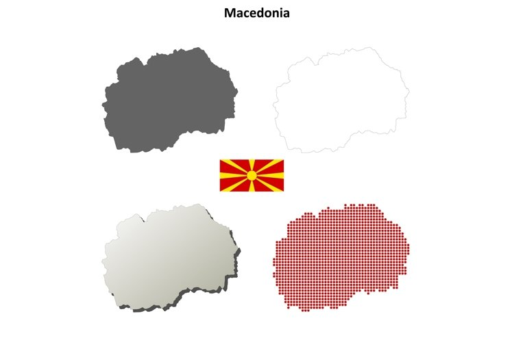 Macedonia outline map set example image 1