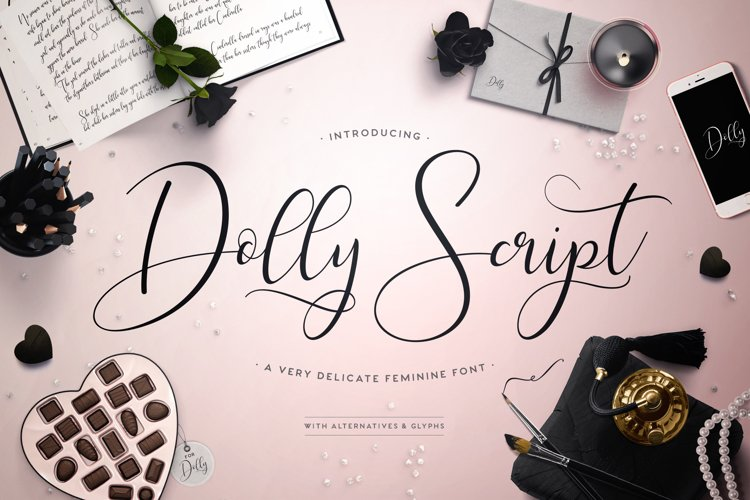Web Font Dolly Script example image 1