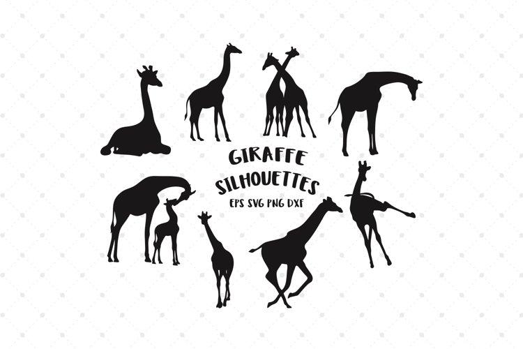 Giraffe Silhouettes SVG Cut Files