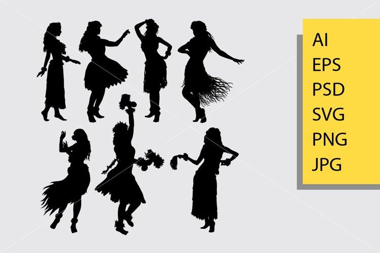Hula hula girl dance silhouette example image 1