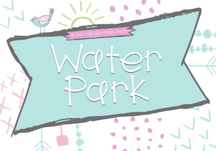 Water Park - A Cute Handwritten Font example image 1