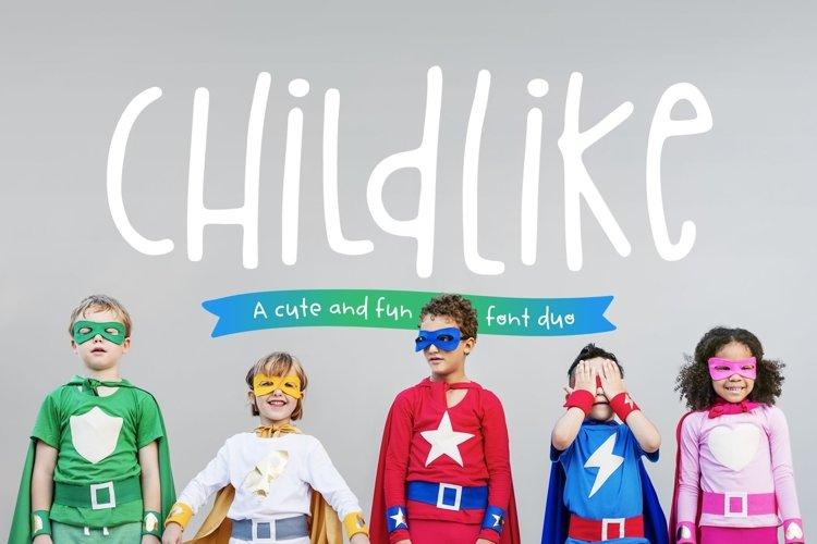 Childlike Font Duo example image 1
