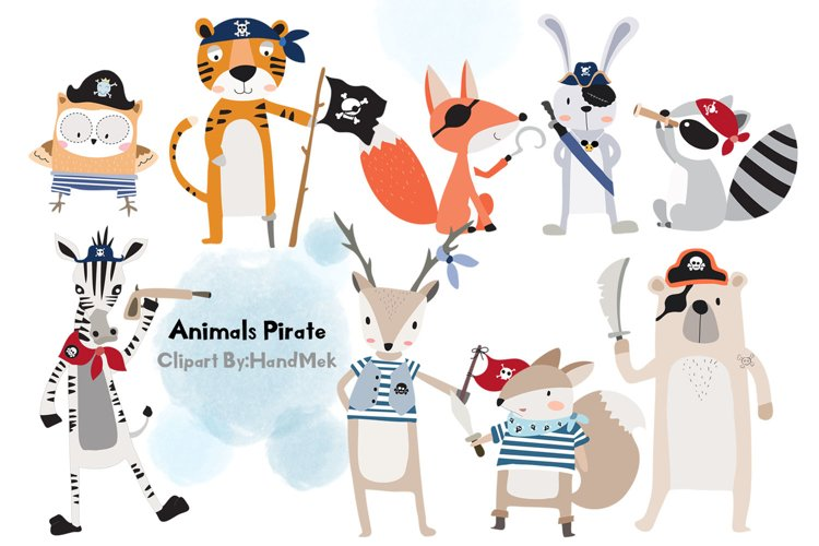 Animals Pirate clipart. example image 1