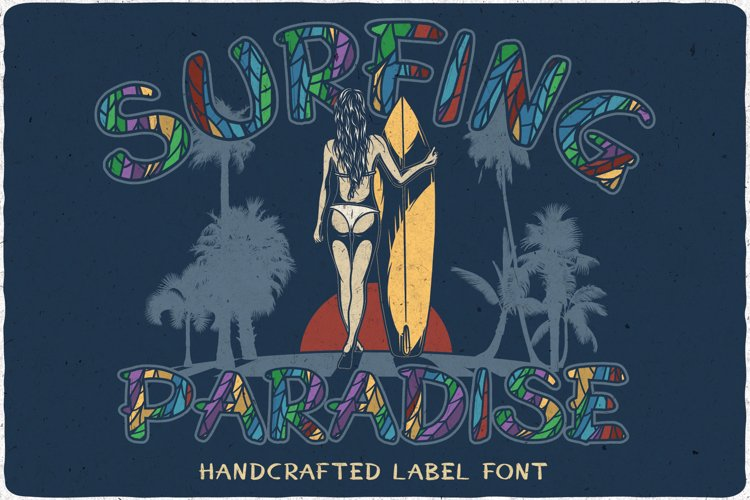 Surfing Paradise font plus bonus example image 1