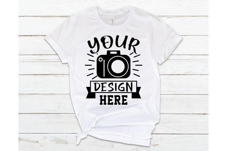 Bella Canvas 3001 Mockup, White T-shirt Mockup, Flat Lay
