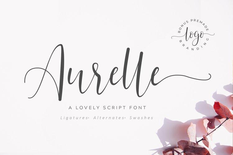 Aurelle Script Font example image 1