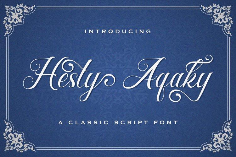 Hesty Aqaky - Modern Script Font example image 1