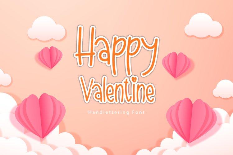 Happy Valentine Font example image 1
