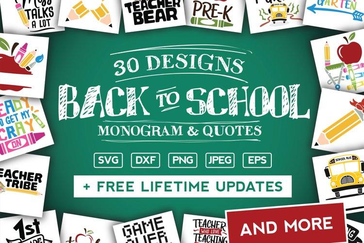 Back To School SVG Bundle in SVG, DXF, PNG, EPS, JPG example image 1