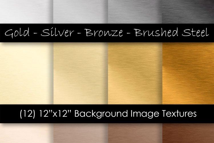 Steel Digital Paper - Metal Texture Backgrounds