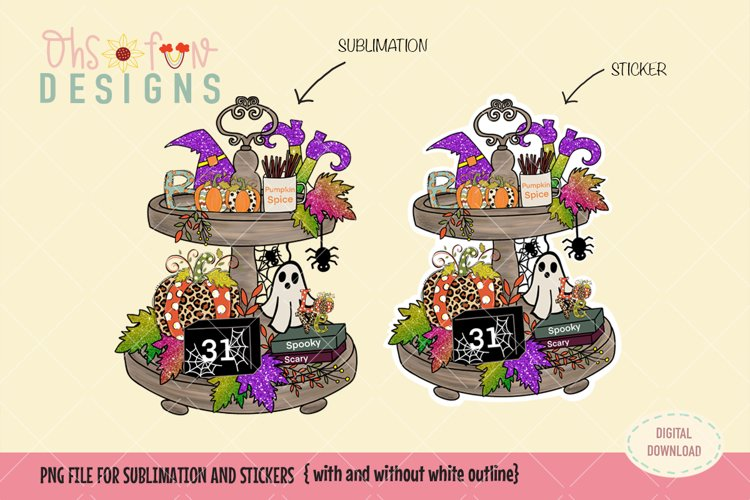 Halloween Fall sublimation and die cut stickers, Bundle. PNG