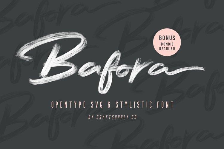 Bafora - SVG Font Bonus Bondie Font example image 1