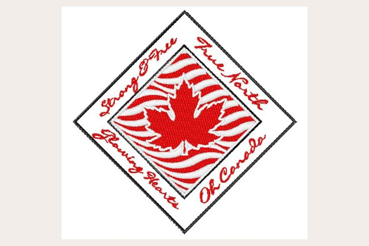 Canada Strong - Machine Embroidery Design example image 1