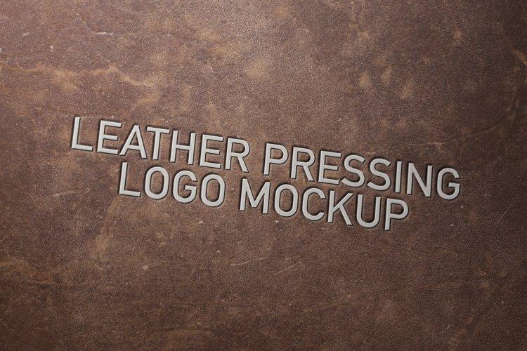 Leather Pressing Logo Mockup example image 1