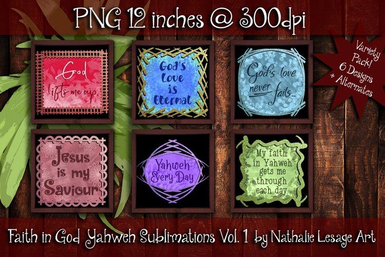 Faith in God Yahweh Sublimation Bundle PNG Mug Designs Vol 1
