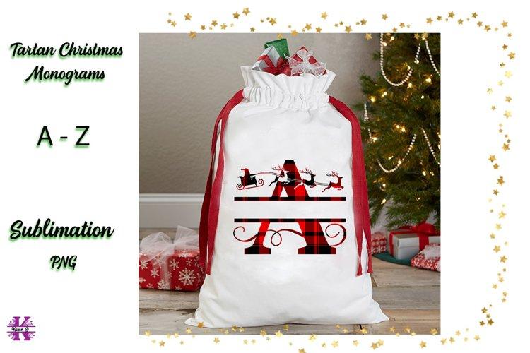 Christmas Monograms -Tartan Design