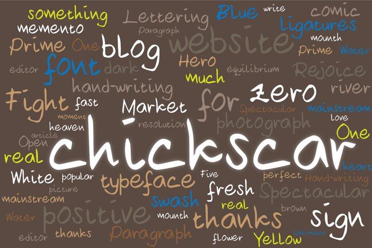 Chickscar Typeface example image 1