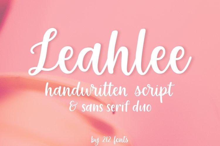Leahlee Script and Sans Handwritten Feminine Font Duo