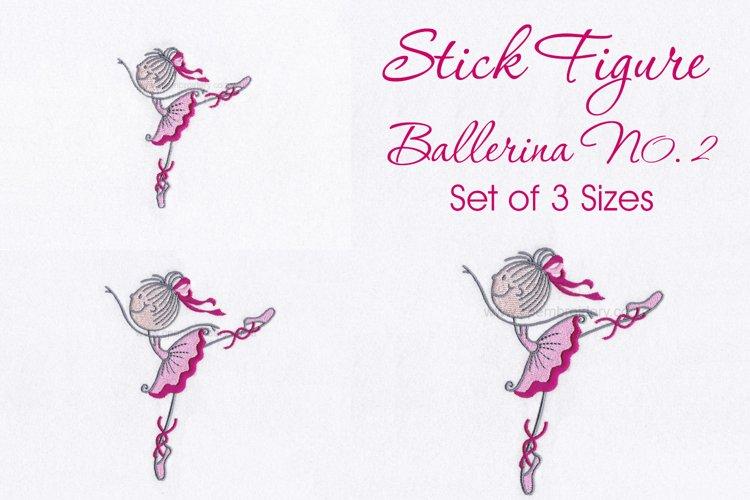 Stick Figure Ballerina No.2