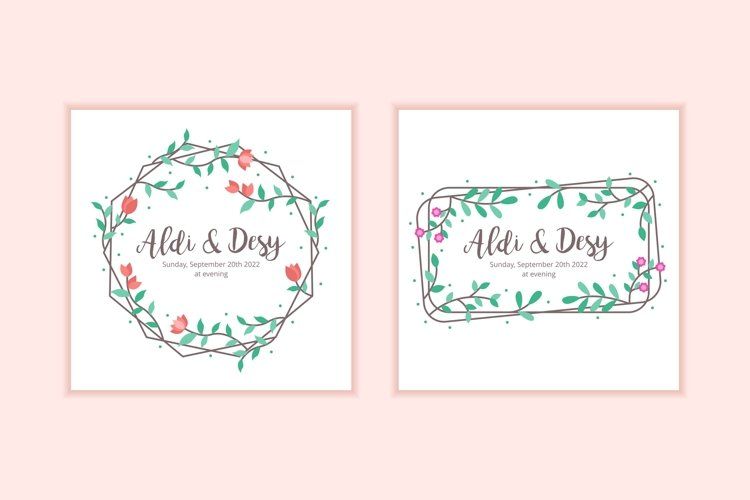 10 Floral Frame Wedding Invitation Template